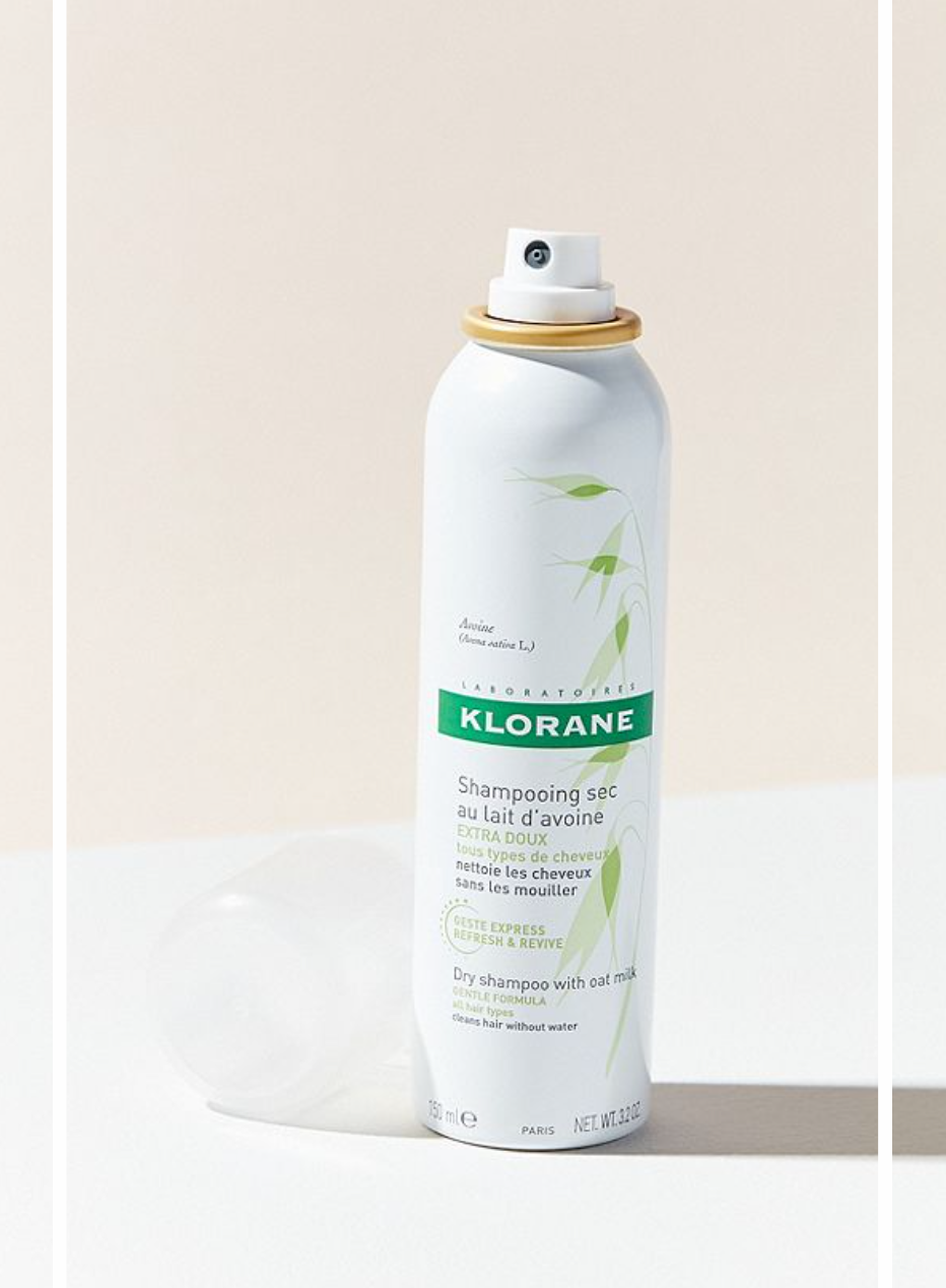 11)Klorane Oat Milk Dry Shampoo - No, oat milk isn't only amazing in your everyday latte. This dry shampoo is so far by far my favorite and I have tried quite a few. It is great for all hair colors and even sensitive scalps. It takes care of oil and odors not leaving any white/grey residue like alot of dry shampoos do. & even better it really does give your hair an oompf of volume.Made with no sulfates, parabens, sodium chloride or colorants. Retail: $20