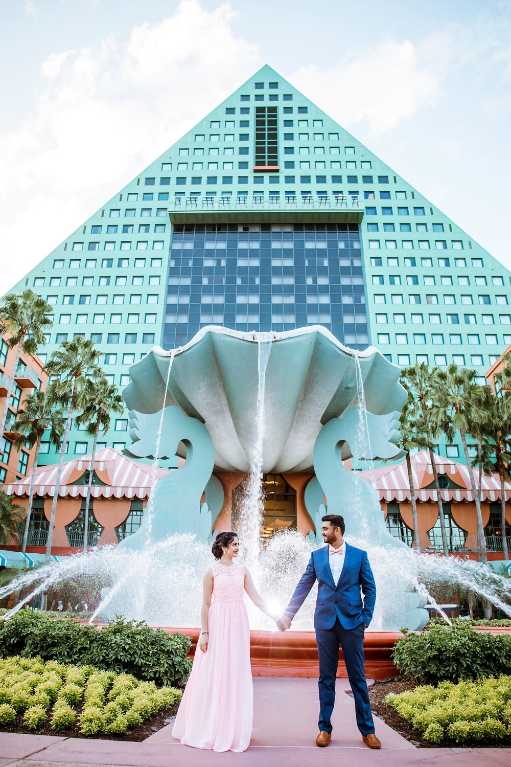 Disney's Swan and Dolphin Engagement Session
