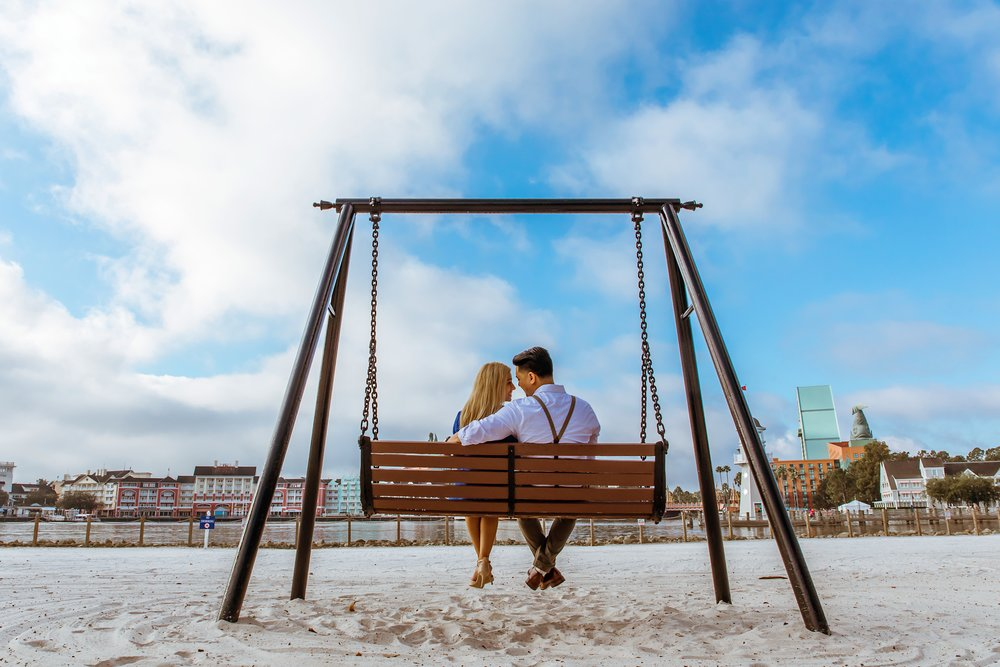 Boardwalk Inn Cute engagement Photo