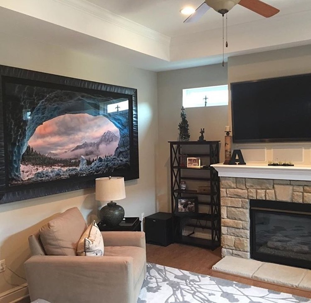 Ice Cave With A View in a family room