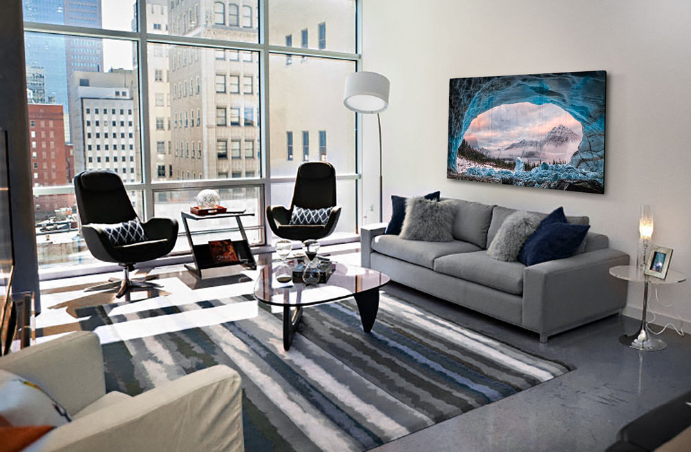 Copy of Ice Cave With A View in an urban home