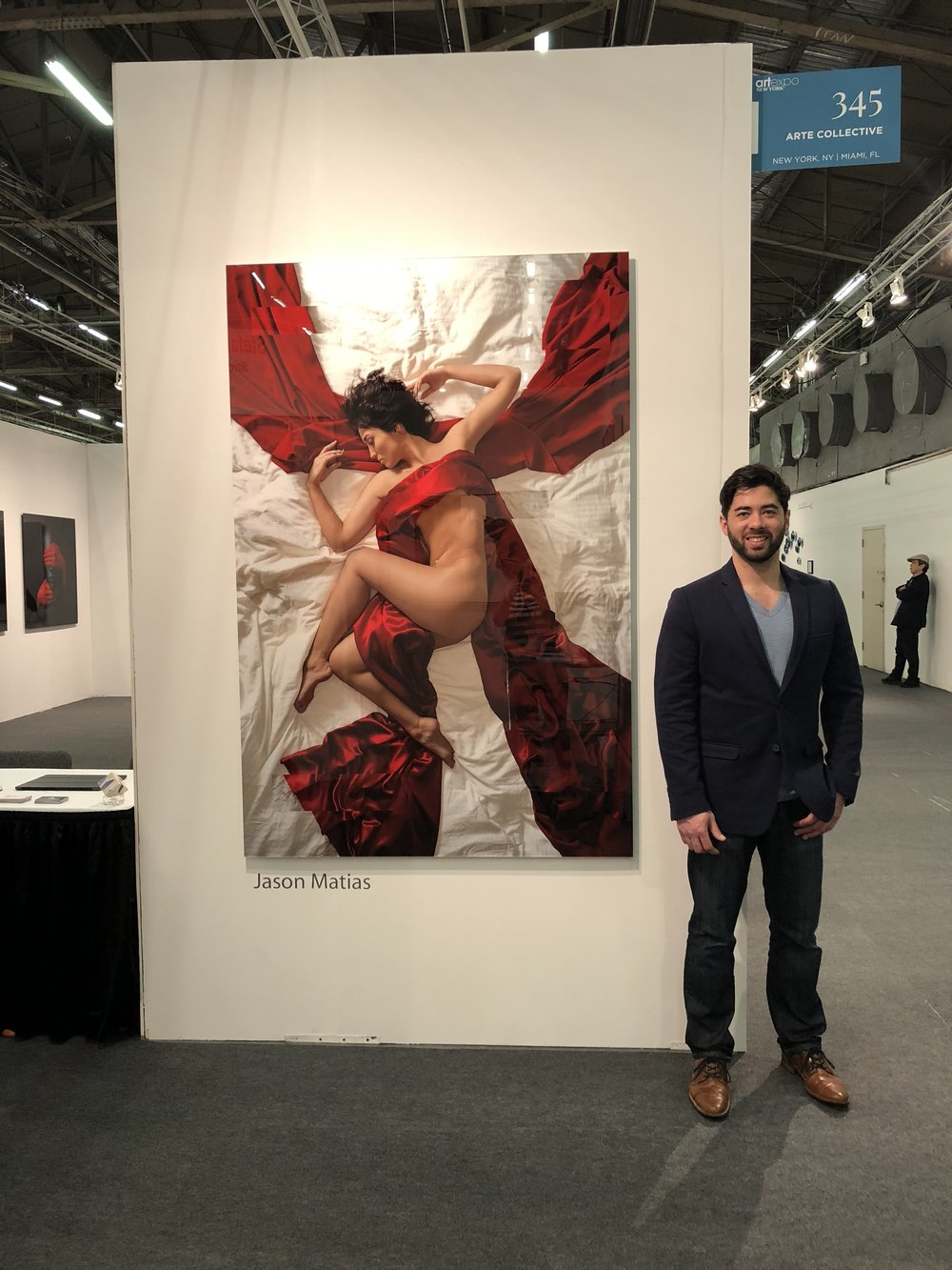 Seattle Fine Artist, Jason Matias, showing Left Alone at Art Expo in New York City
