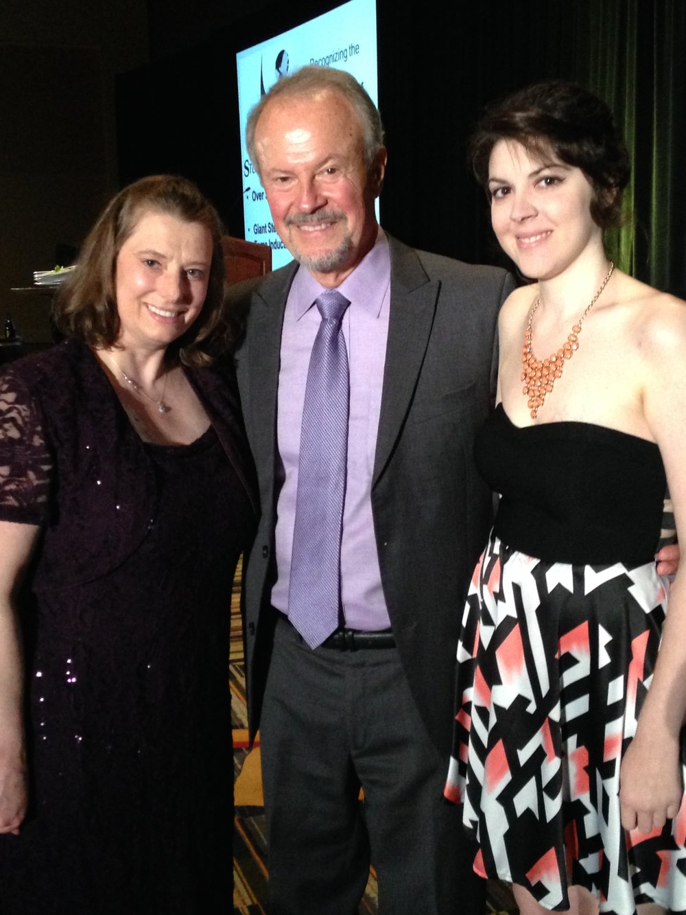 From left to right: Jodi Norton, Richard Lapchick, Bianca Augusto