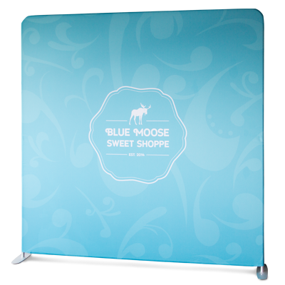 Tension Fabric Displays - Stretch fabric display that fits securely over an easy-assembled aluminum frame with a zippered bottom.