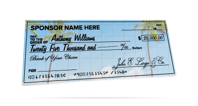 Giant Checks - Made from rigid foam board and fully customizable. Great for contests & events.
