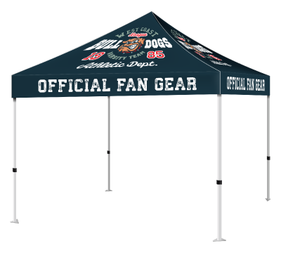 Pop Up Tents - 600 denier tent canopy and a 10'x10' 40 mm heavy duty aluminum frame. Includes free carrying case and rope and stake kit.