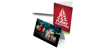 Greeting Cards - Greeting Cards are large, folded notecards with an area for a personalized message on the interior. They are a popular way to celebrate holidays and special events. Usually, they are colorful and have images on the outside.