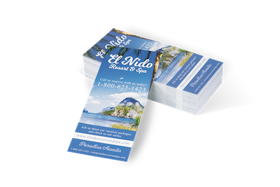 Rack Cards - Rack Cards are printed full color on heavy stock and designed for display in an industry standard 4