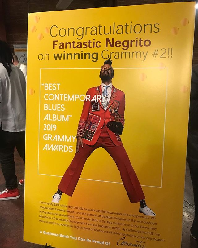 Yeeeahh!! So proud to celebrate this awesome accomplishment for @fantasticnegrito !! 2 Grammys!!