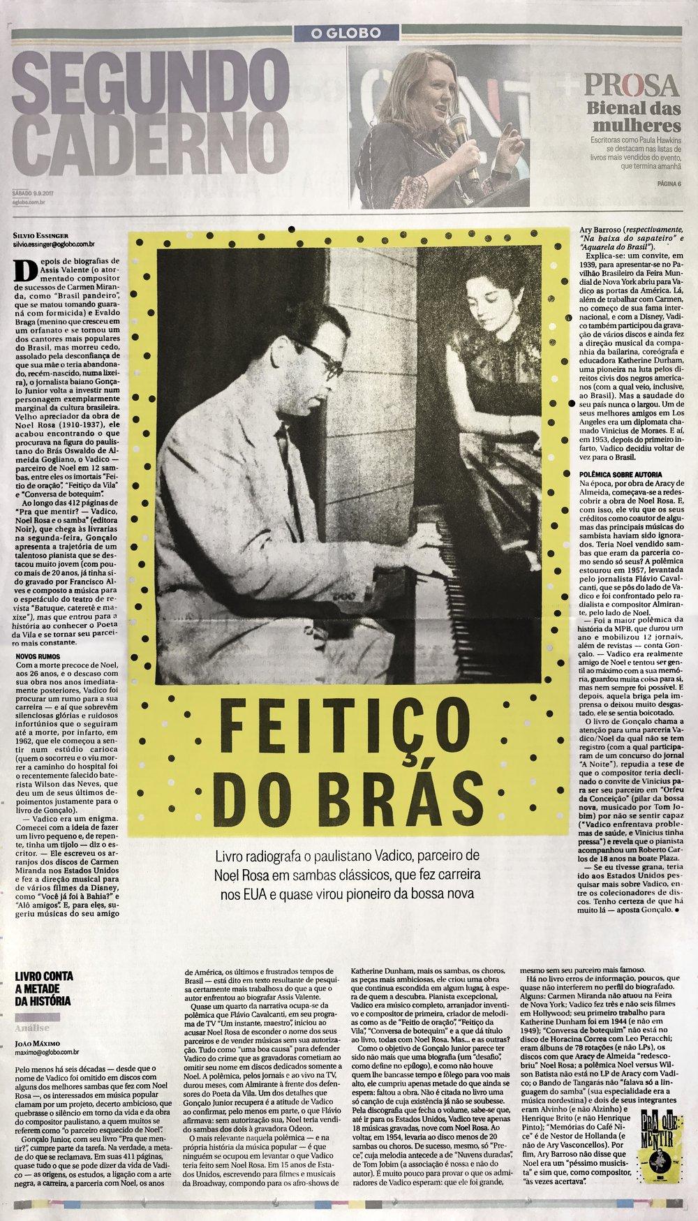 O Globo  Rio de Janeiro – 9/9/2017