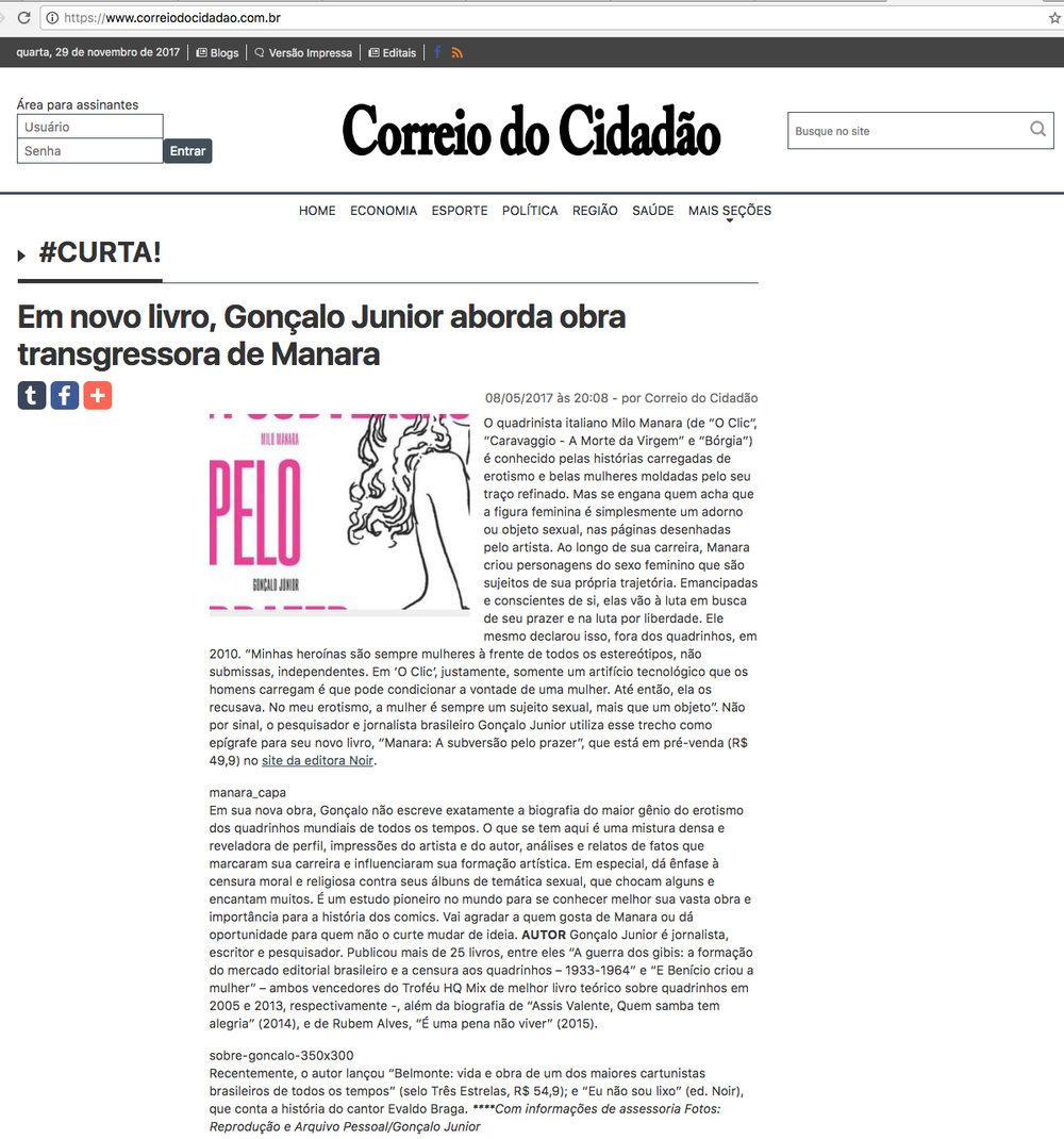 Correio Cidadão  Curitiba – 8/5/2017
