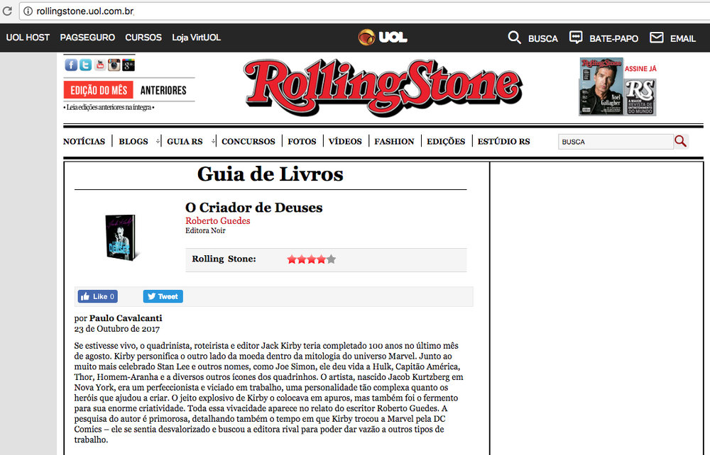 Rolling Stone  São Paulo – 23/10/2017