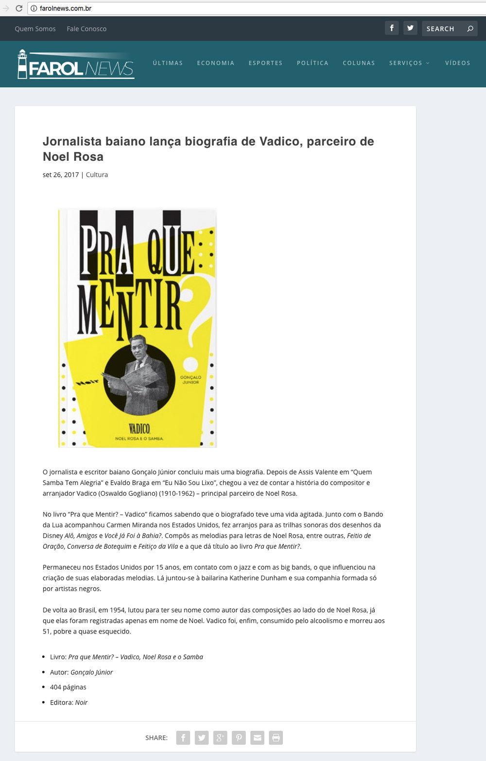 Farol News Porto Alegre – 29/9/2017