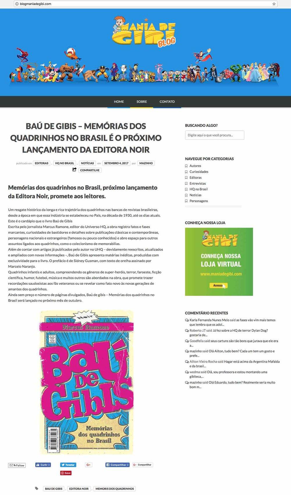 Mania de Gibi São Paulo – 4/9/2017