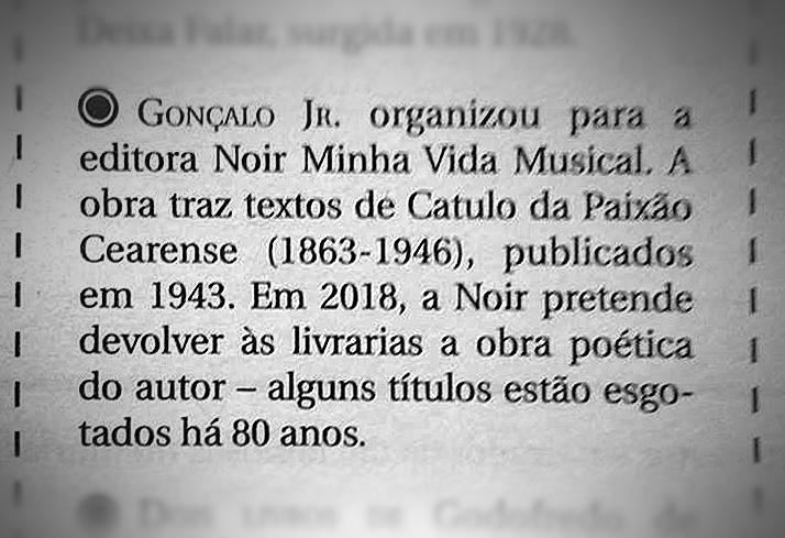 Jornal de Letras da Academia Brasileira de Letras  Rio de Janeiro – 9/12/2017