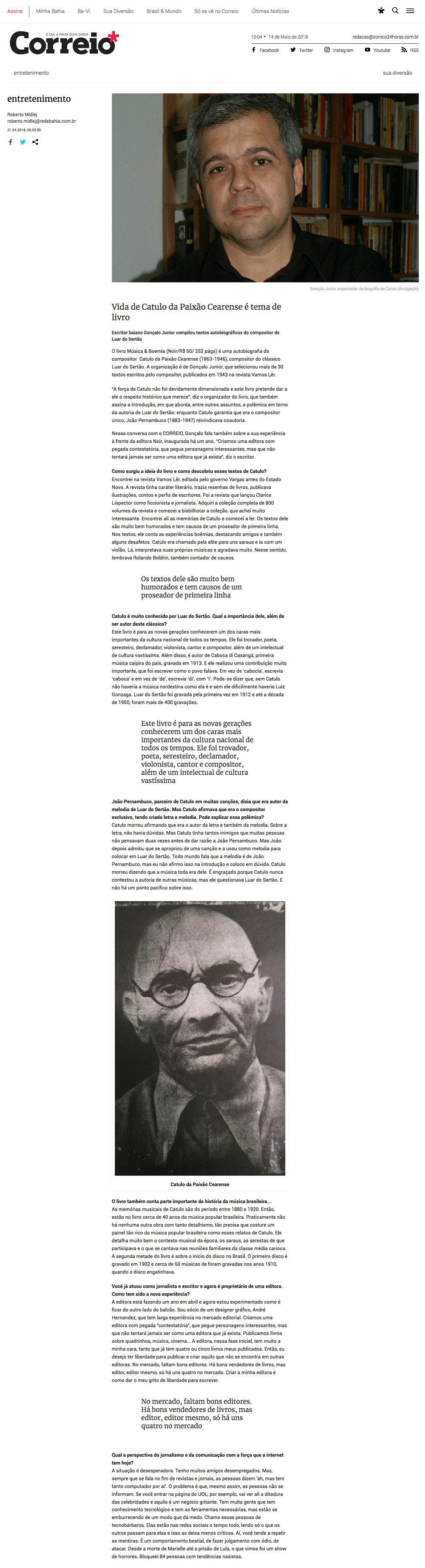 Correio  Salvador – 21/5/2018