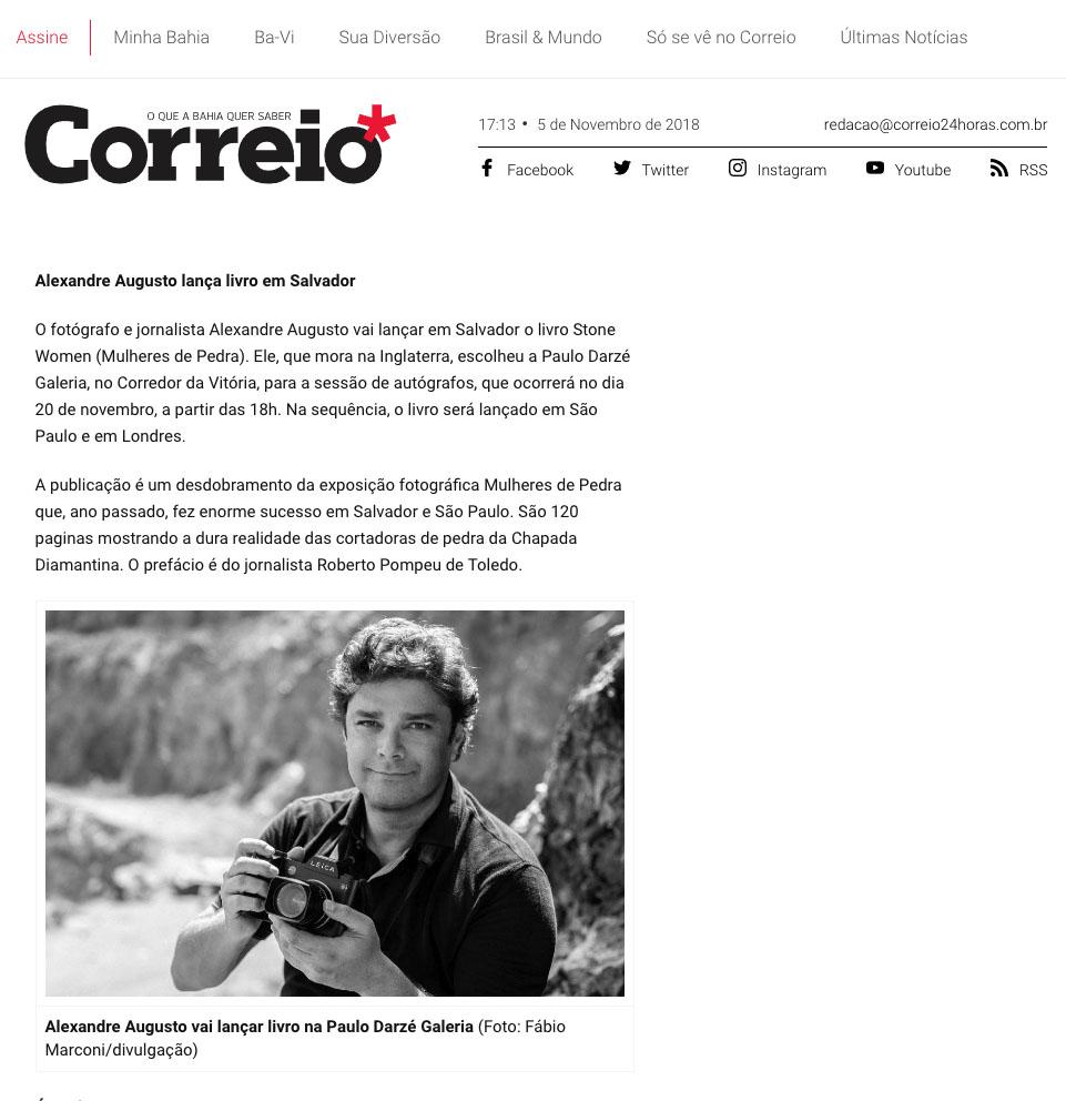 Jornal Correio  Salvador – 5/11/2018