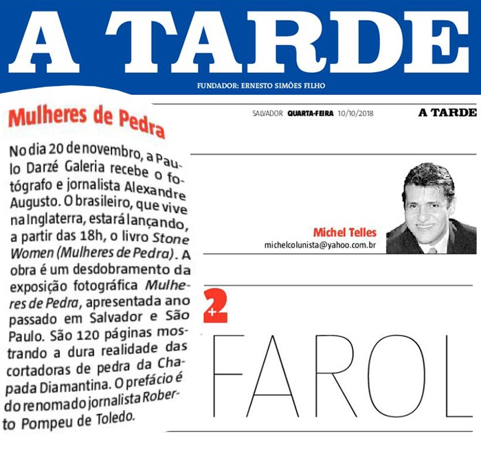 Jornal A Tarde  Salvador – 10/10/2018