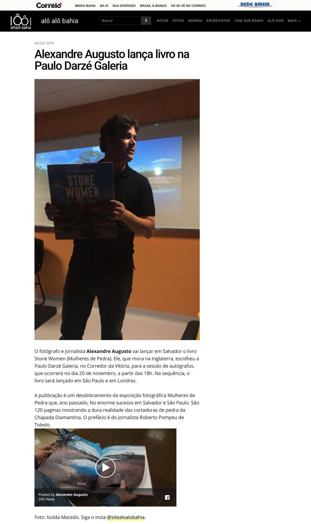 Jornal Correio  Salvador – 3/10/2018
