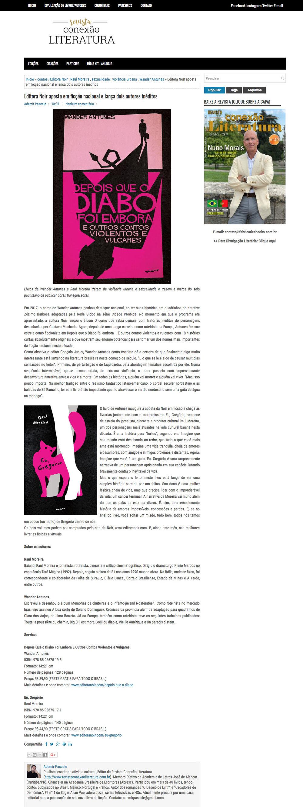 Conexão Literatura  São Paulo – 8/11/2018