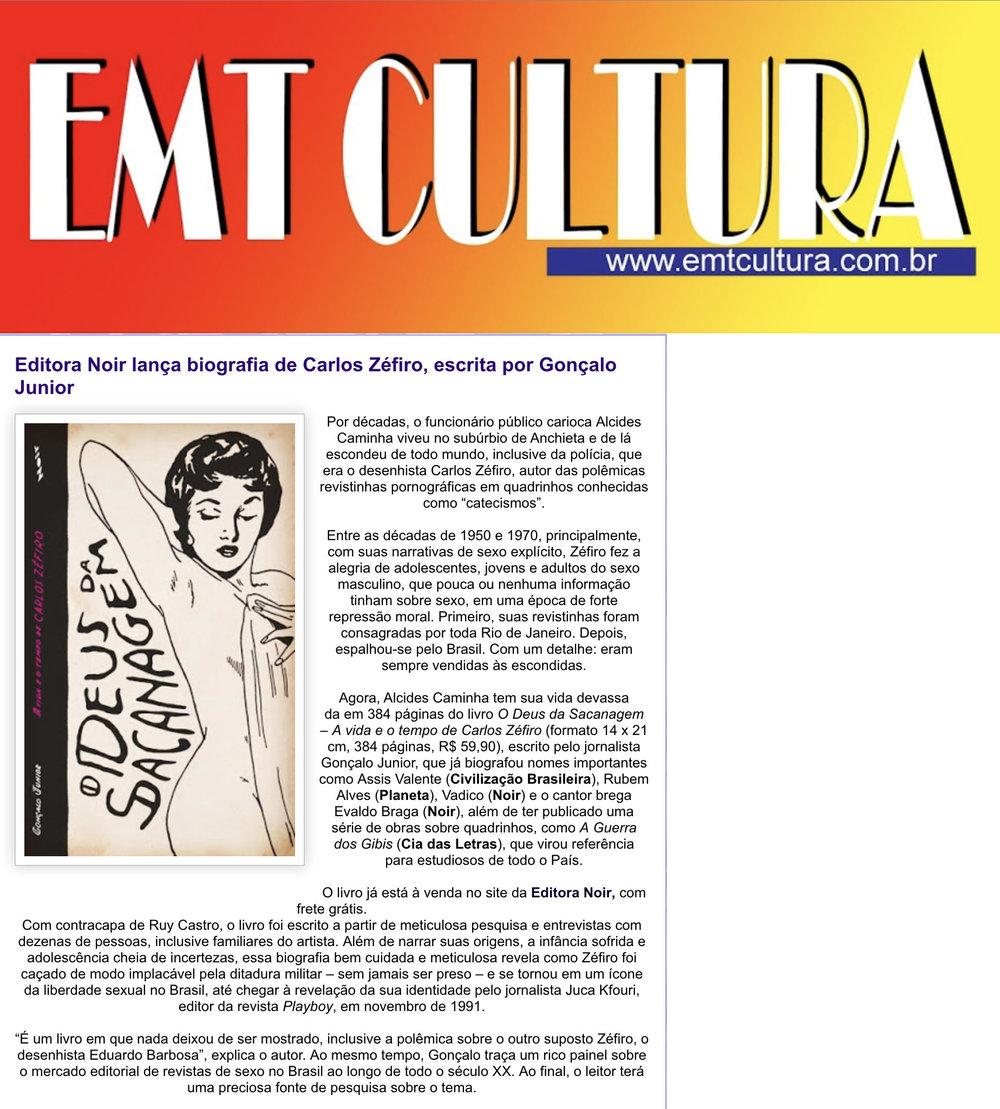 EMT Cultura  São Paulo – 24/10/2018
