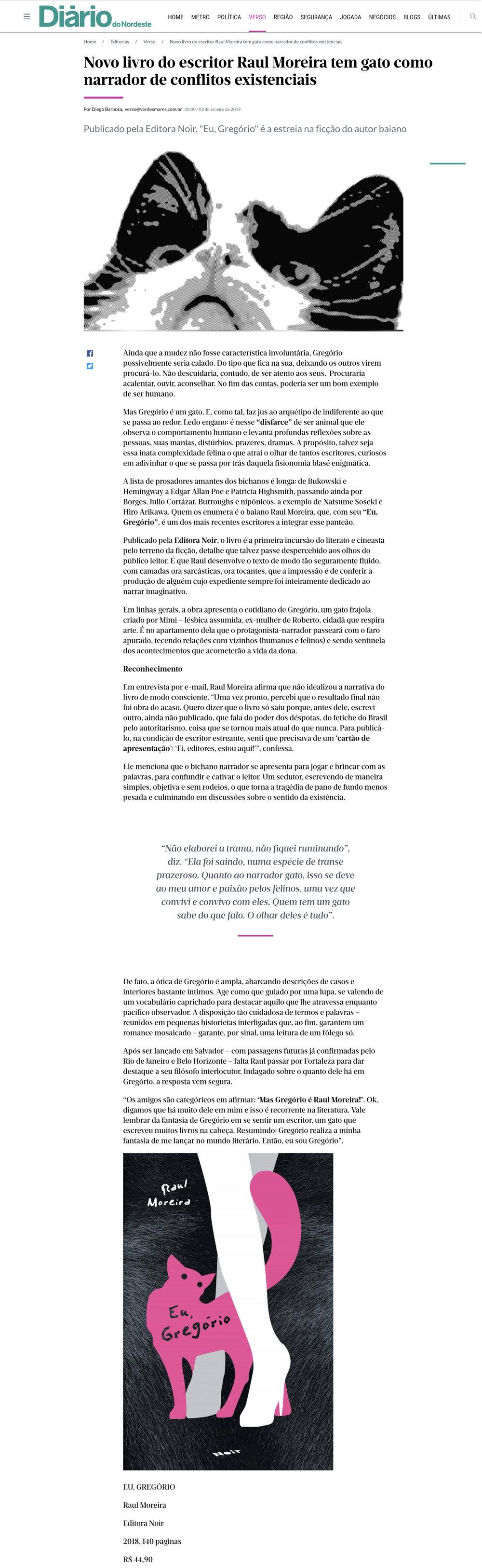 Diario do Nordeste  Fortaleza –3/1/2019