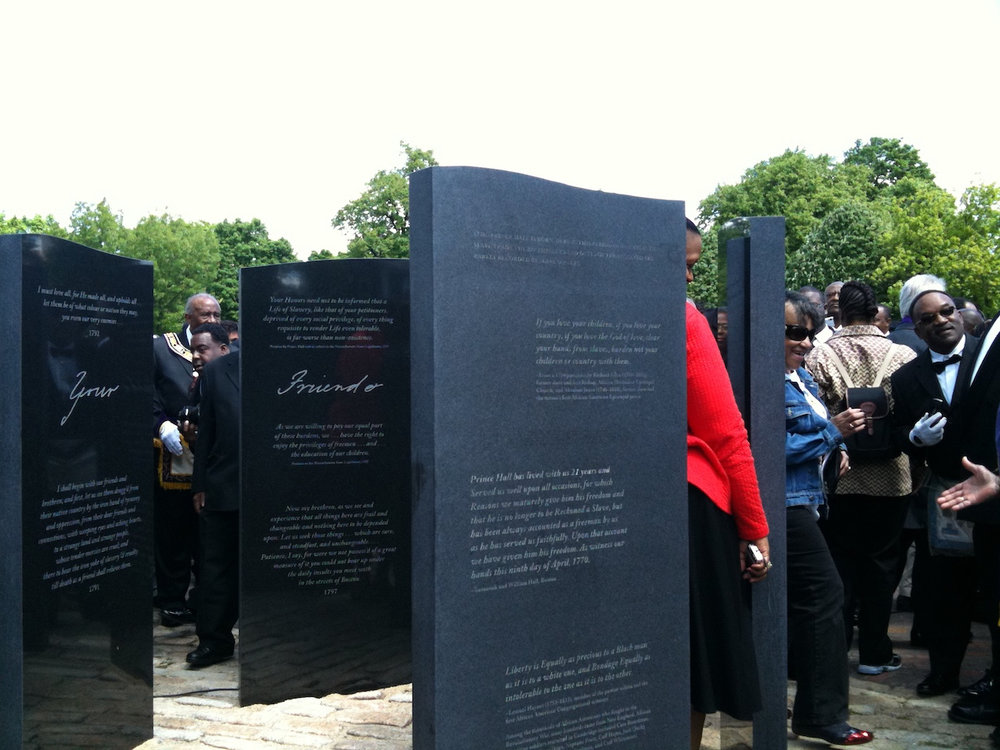 Prince Hall Monument dedication ceremony at Cambridge Common