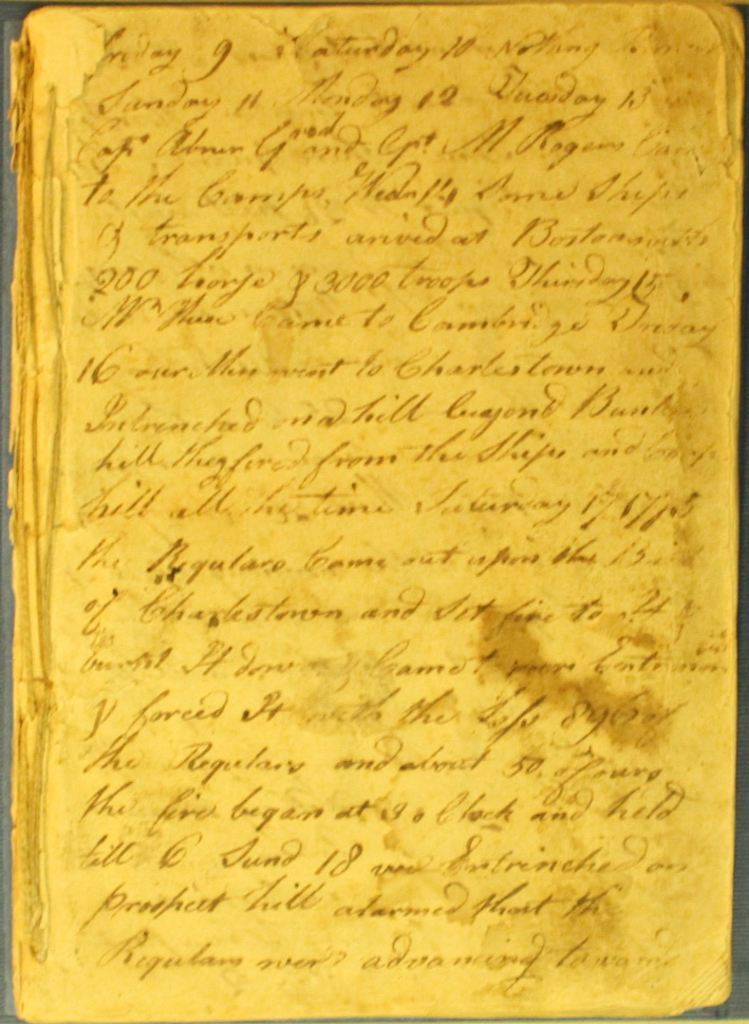 American Revolution soldier's diary, likely Moses Sleeper (1752-1781?)