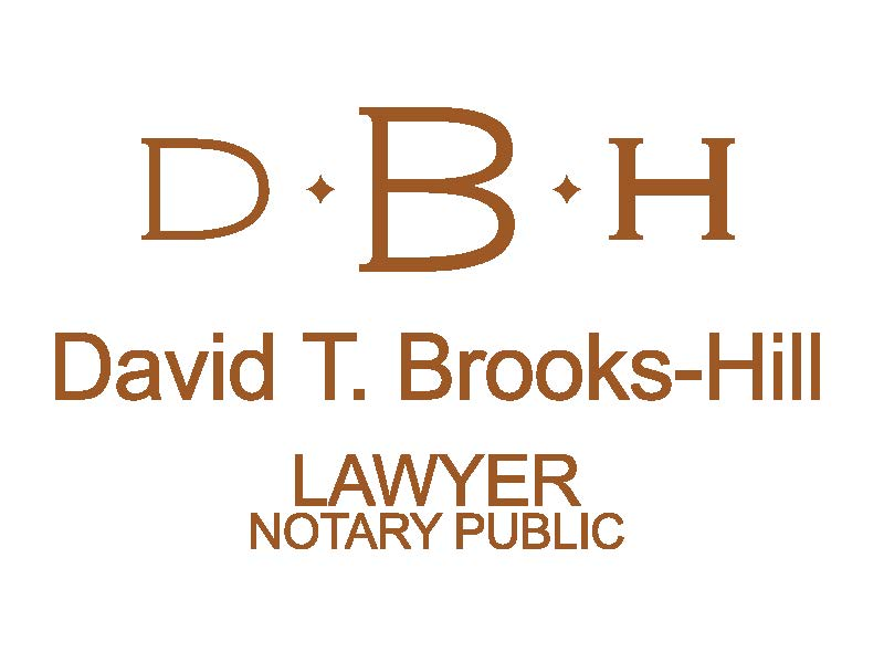 David T. Brooks-Hill, Lawyer and Notary Public