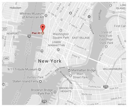 Click for Directions via Google Maps // Pier 40, Indoors -Hudson River Park.