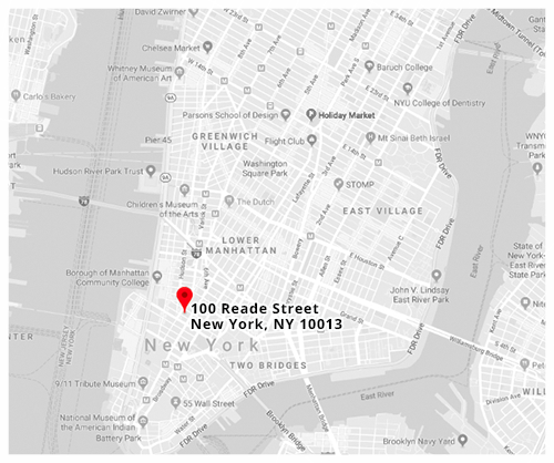 Click for Directions via Google Maps // 100 Reade Street, New York, NY 10013.