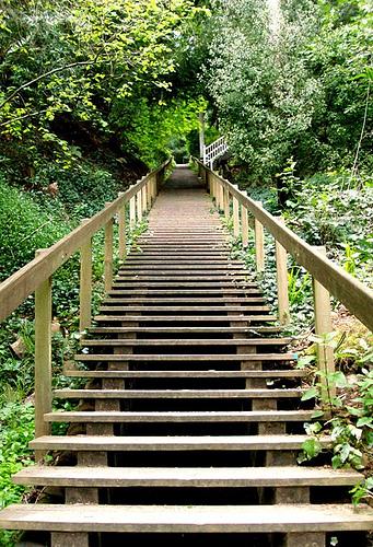 The Dip Sea stairs await....