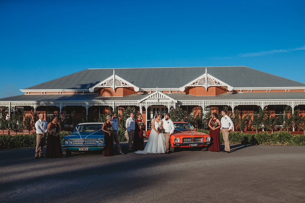 bridal party at olive house shepparton