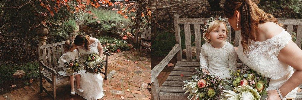 shepparton bride with daughter