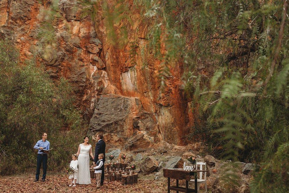 dookie quarry wedding ceremony