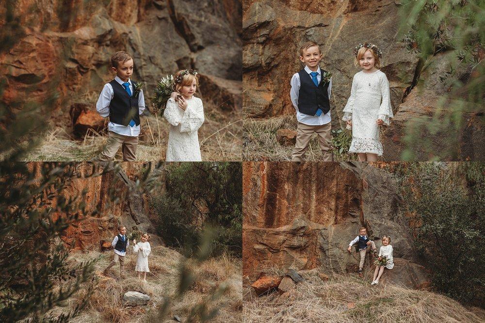 children at dookie quarry
