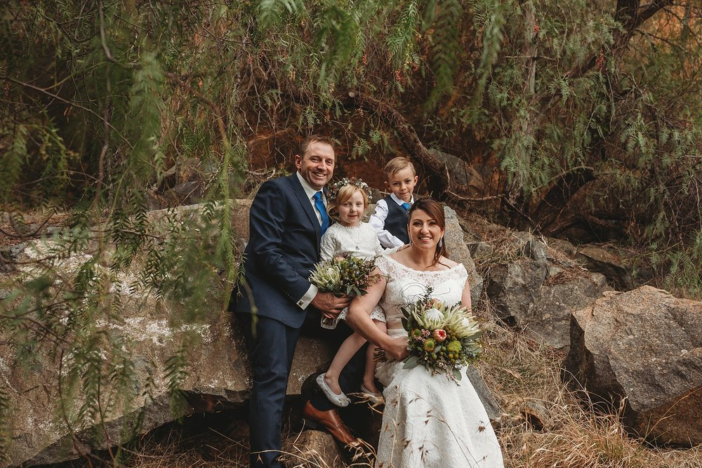 wedding party at dookie quarry