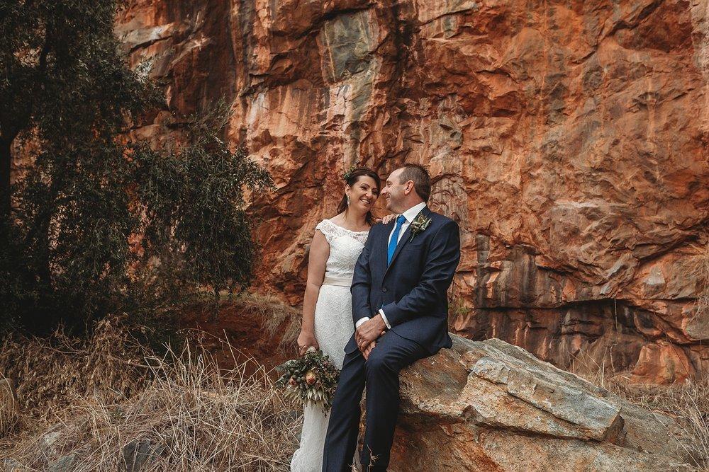 dookie quarry bride and groom