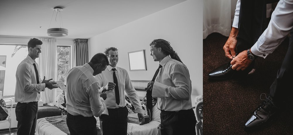 groom getting dressed at brighton savoy