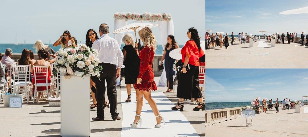 wedding at brighton pier