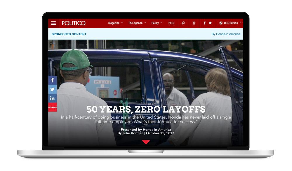 Sponsored story on Politico.com