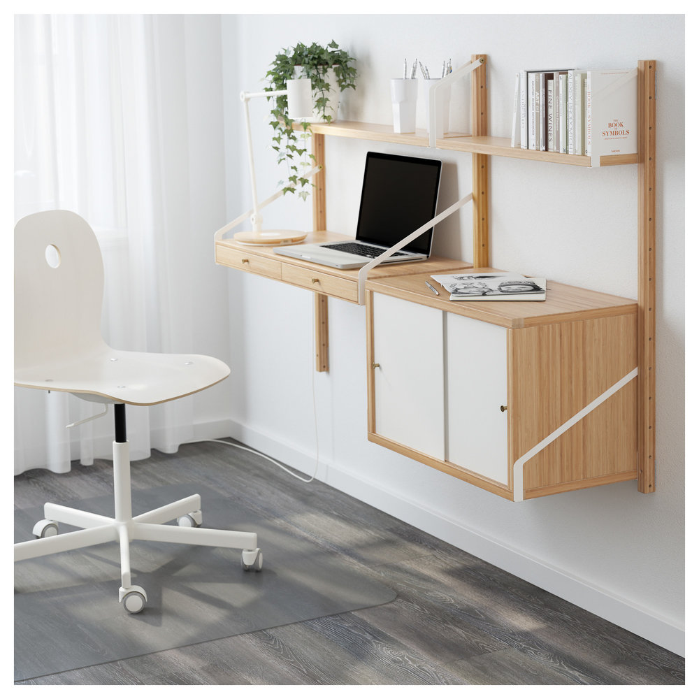 IKEA SVALNAS Wall Mounted Work Space Combination