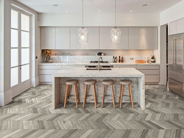 Kitchen Floor Tile Layout Designs