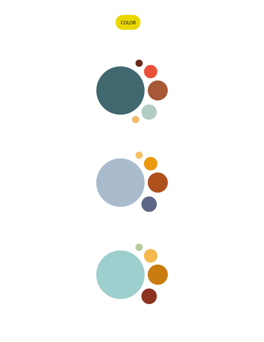 ManiFest color palette options by Whitney Williams
