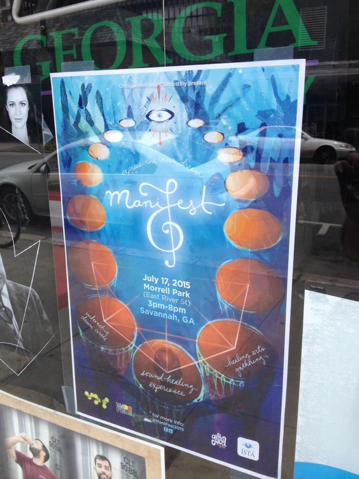 ManiFest poster in window