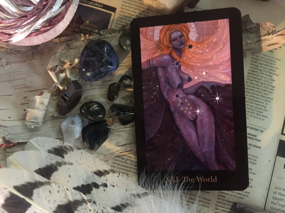 The World Card from the Mary-El Tarot by Marie White
