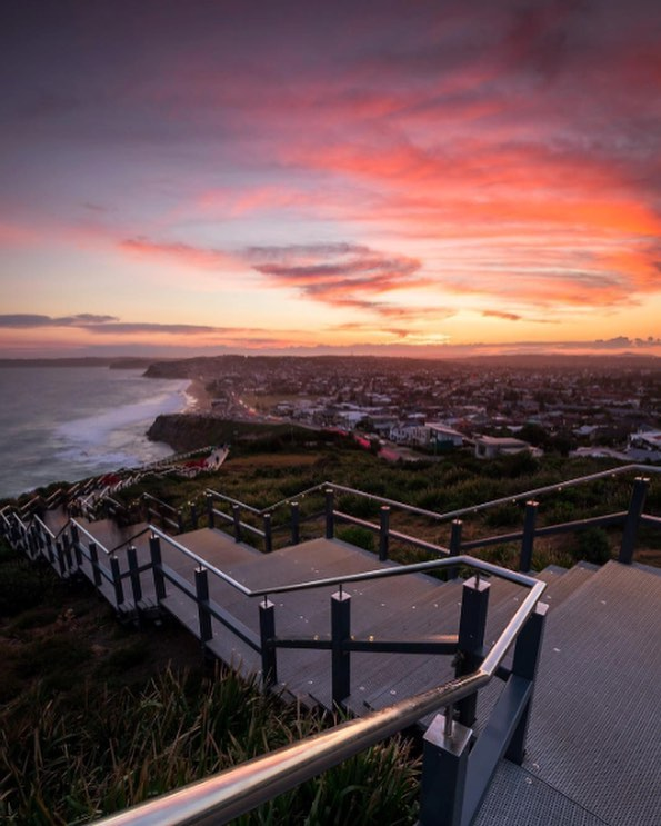 The ANZAC walk at sunset makes all those steps worth it. #visitnewcastle #anzacday walk #sunset #anzac #kinghousecrew