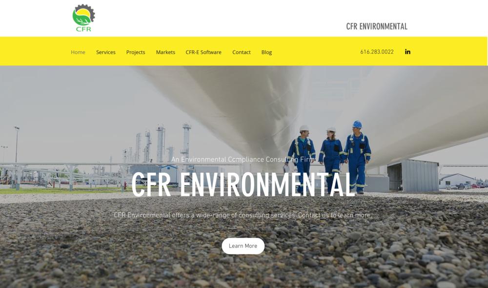 CFR Environmental  |  Website Design, Content, SEM, and SEO