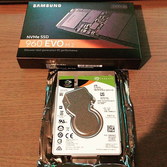 Main rig is getting a small upgrades and a temporary side-grade during an SSD RMA #samsung #960evo #seagate #firecuda #pc #upgrade #computer #repair