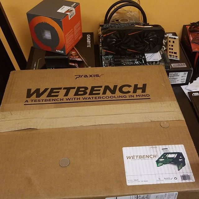 Have a test bench upgrade in the works! #primochill #praxis #wetbench #pc #ryzen #amd #testbench #computers #pc